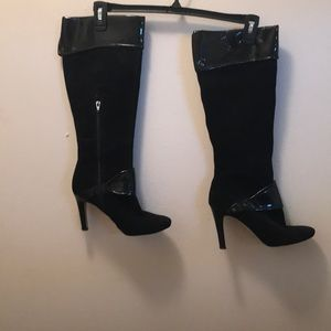 Suede and Patent Nine West Boots